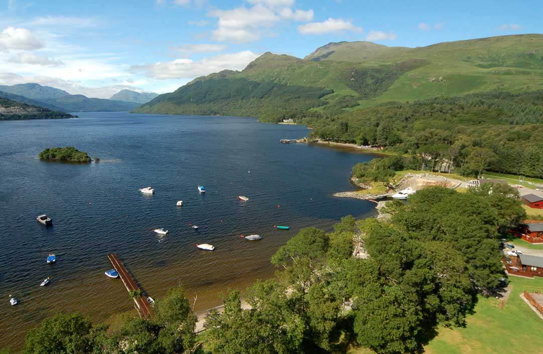 loch lomond aerial view
